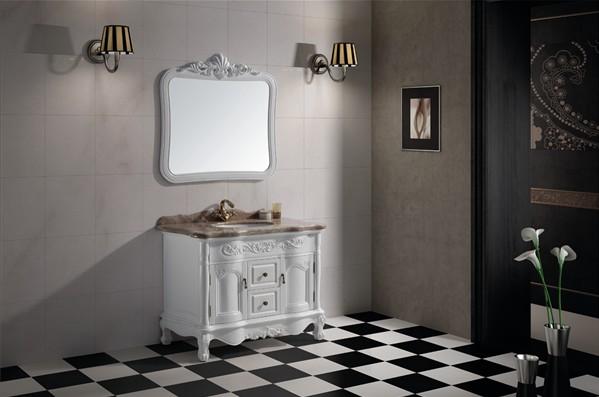 忌廉红 这款新款欧式浴室柜适合大户型     本次推出的这款浴室柜设计