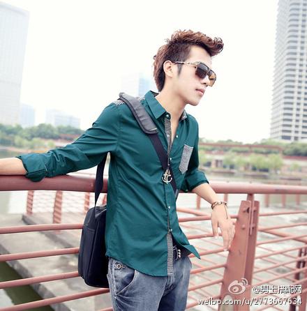男士发型搭配-和讯财经微博-蓝灰配色充满秋日气息